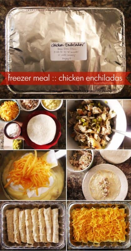 Chicken enchiladas freezer meals