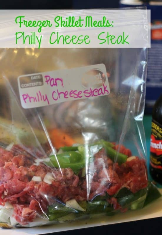 Philly cheesesteak easy freezer meal