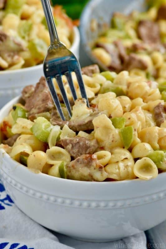philly cheesesteak mac and cheese cheap dinner ideas with beef