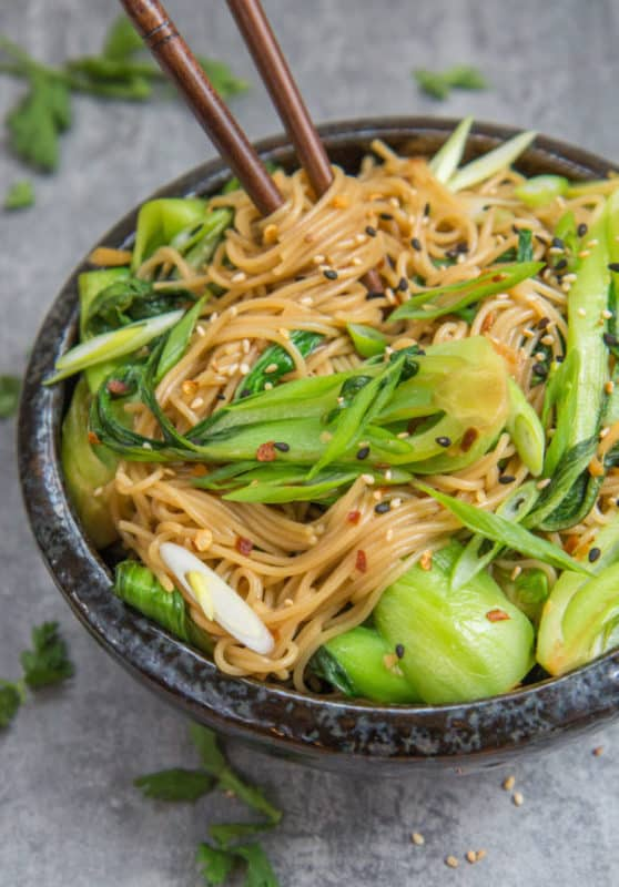15-minute sesame ginger noodles cheap dinner ideas without meat