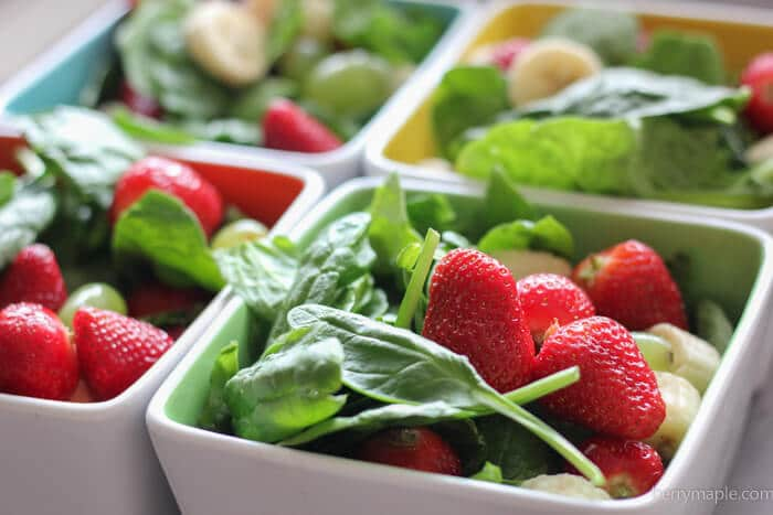 Freezer Strawberry and Greens Smoothie Packs meal prep ideas