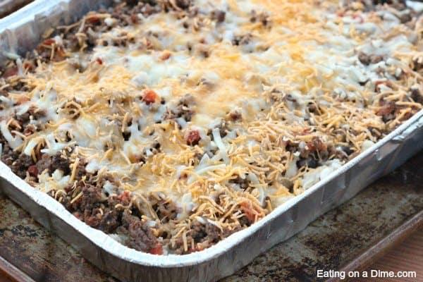 easy taco casserole freezer meal recipe
