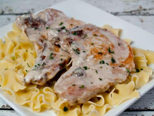 slow cooker pork chops in cream of mushroom soup cheap dinner ideas with pork