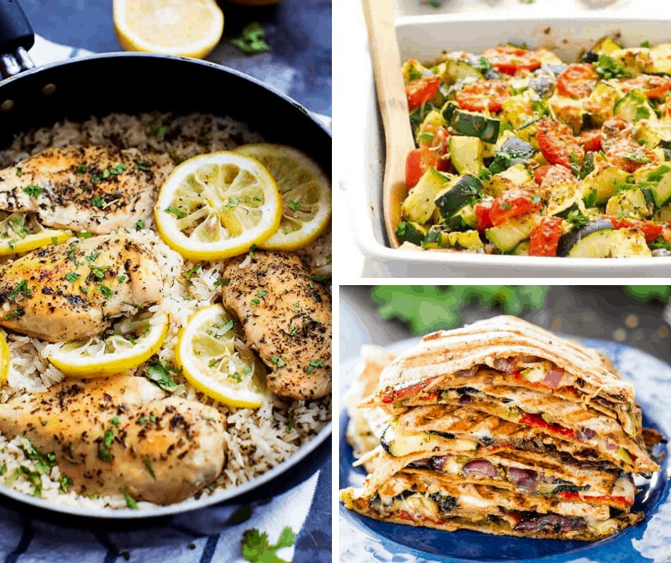 image collage showing 3 cheap dinner ideas