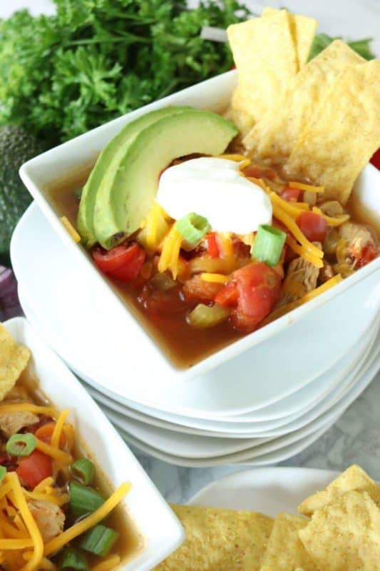 chicken tortilla soup easy instant pot recipes