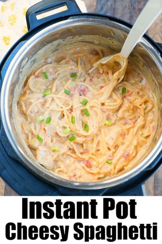 Cheesy Chicken spaghetti easy instant pot recipes