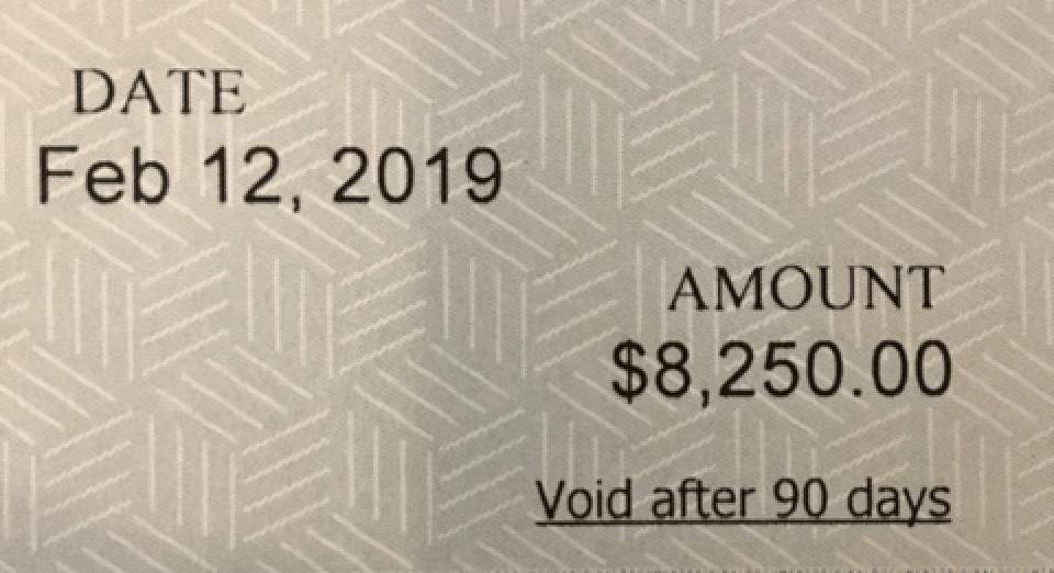 Sponsorship Check