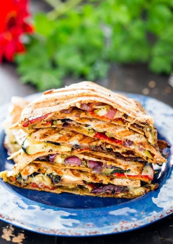 grilled vegetable quesadillas cheap dinner ideas without meat