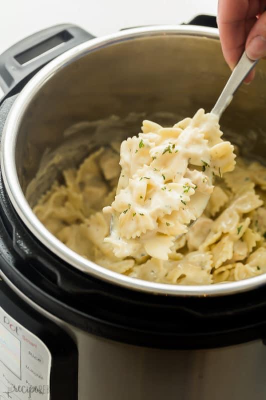 chicken alfredo pasta easy instant pot meals