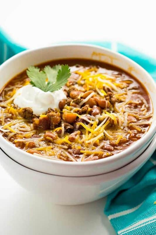 ground beef chili easy instant pot recipe