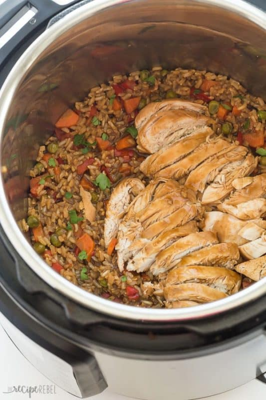 teriyaki chicken & rice easy instant pot recipes