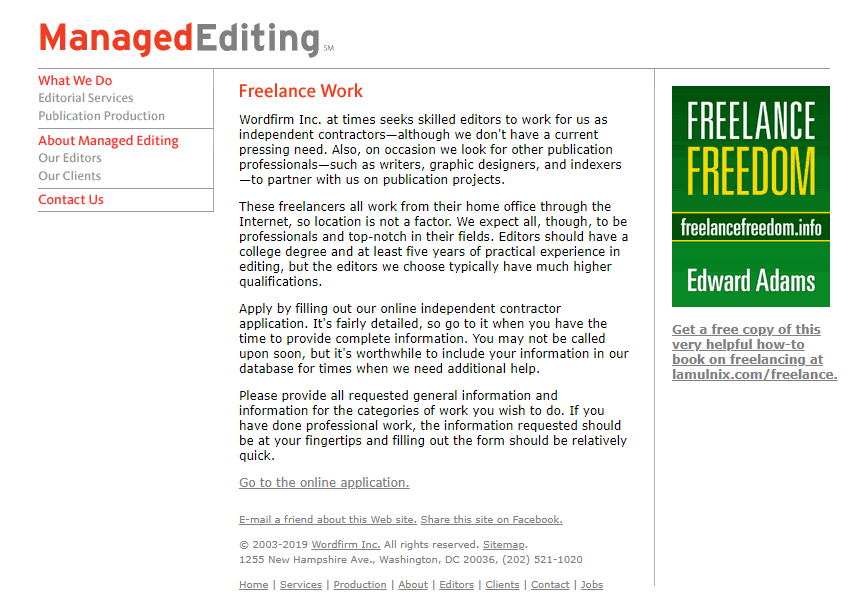 Managed Editing Screenshot for Online Proofreading Jobs
