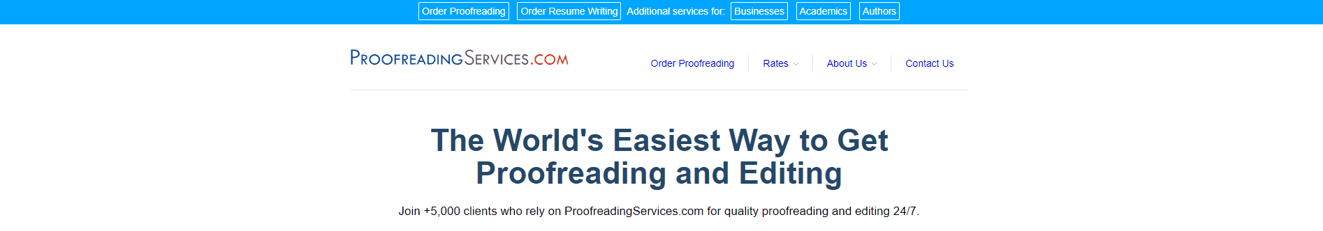 Proofreading Services Screenshot