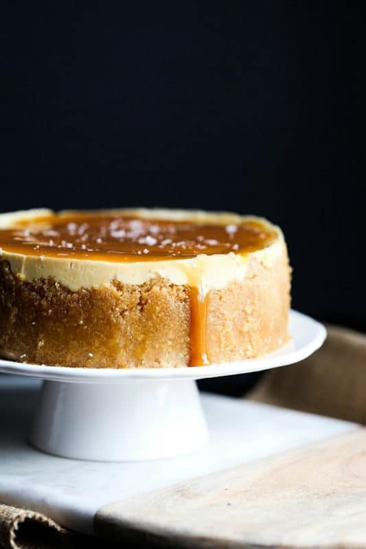 salted caramel cheesecake easy instant pot recipe
