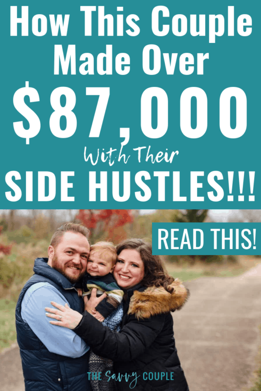 This couple is so inspiring! They took decided to turn their life around and become debt free through their side hustles! What an incredible read. Pin This! #SideHustle #SuccessStory #Finance #DebtFree #DaveRamsey #Budgeting #Save #Frugal