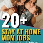 If you're NOT trying to find a way to make money from home then this list will change that! I can't believe I've been sitting here literally wasting so much time doing nothing after the kids go to bed, when I could have been making some serious money! Pinning this so I can start designing my perfect stay-at-home mom career now! #StayAtHomeMomJobs #MakeMoneyAtHome #MakeMoney #WorkFromHomeJobs #WorkingMom #EarnMoneyOnline #WorkFromHome #MomJobs #MakeMoneyFromHome #MakeMoneyOnline