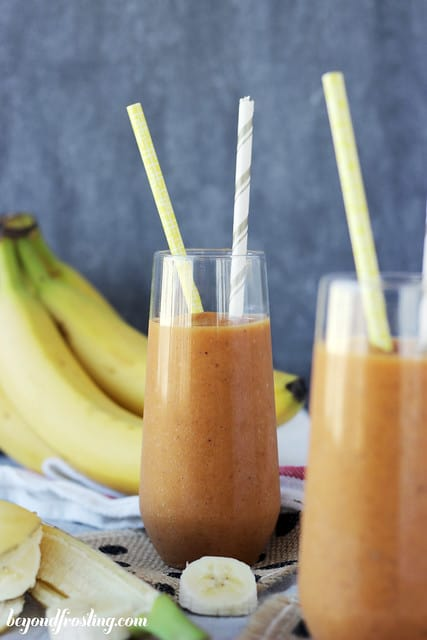 skinny pumpkin banana weight loss smoothie