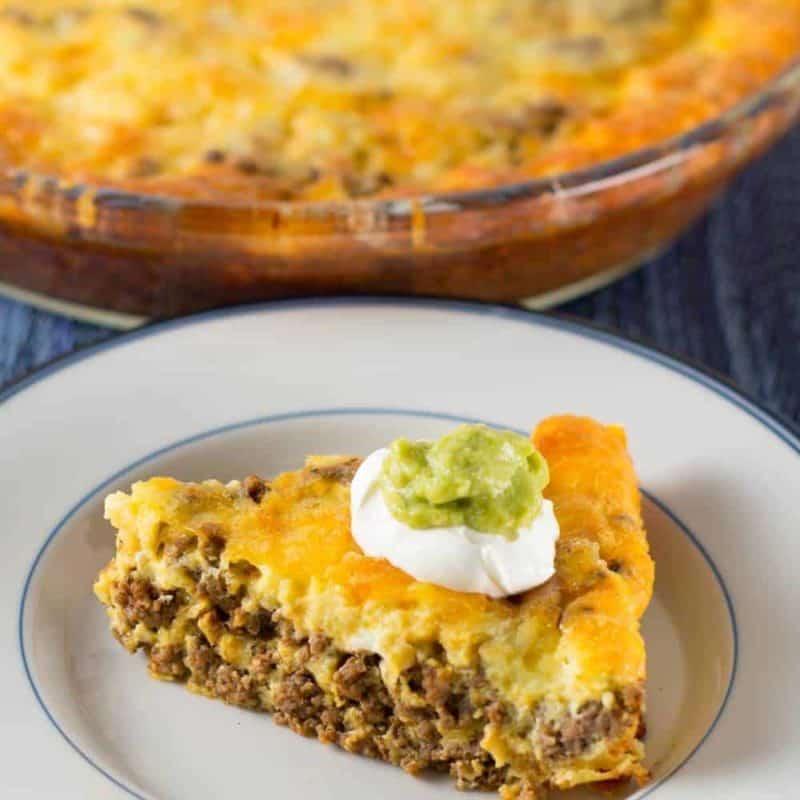 Crustless Low Carb Taco Pie keto recipes