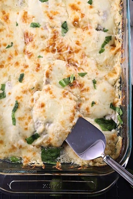Creamy Baked Tilapia & Spinach Casserole Keto Recipes with fish
