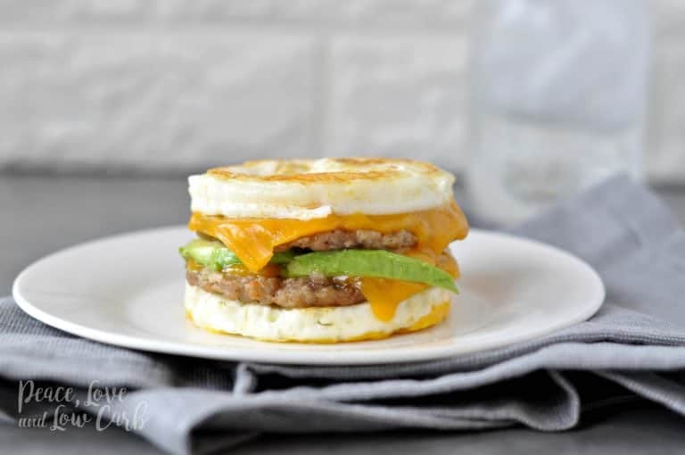 sausage and egg breakfast sandwich keto recipes