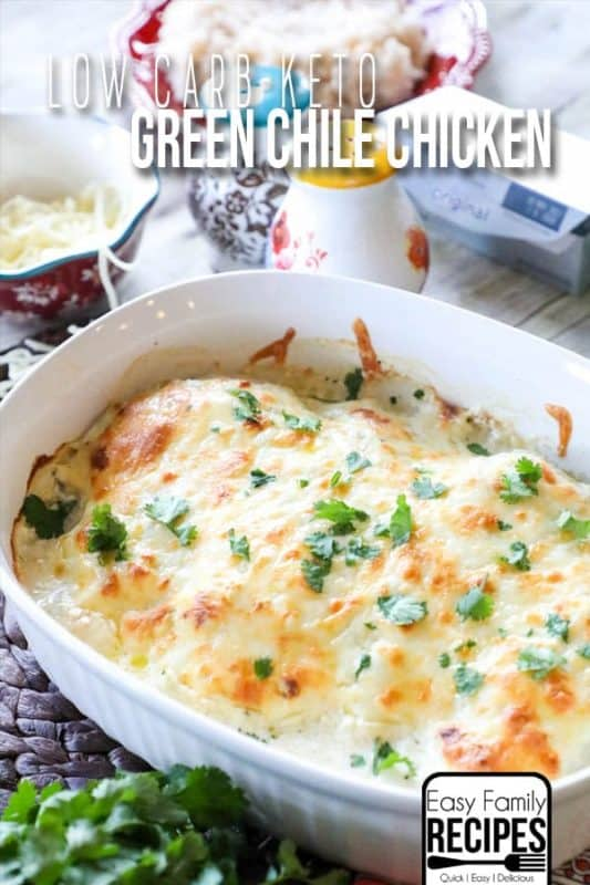 green chicken chile casserole low carb recipes