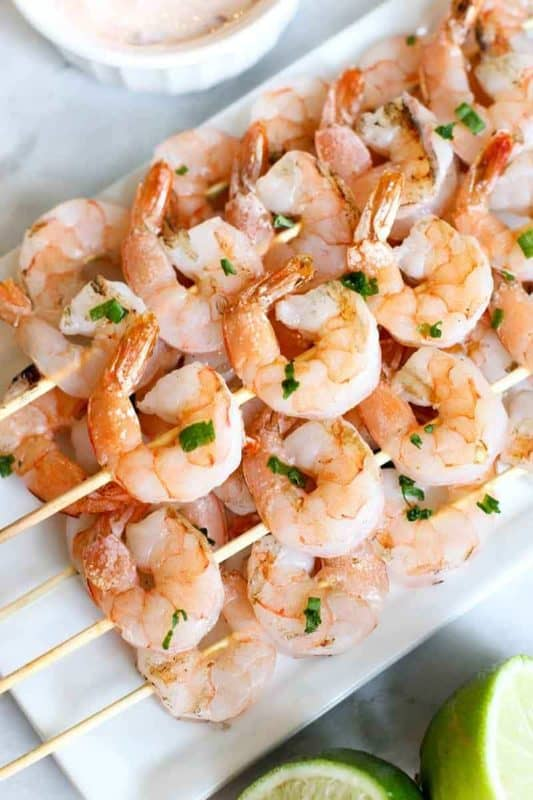 grilled shrimp skewers easy low carb recipes