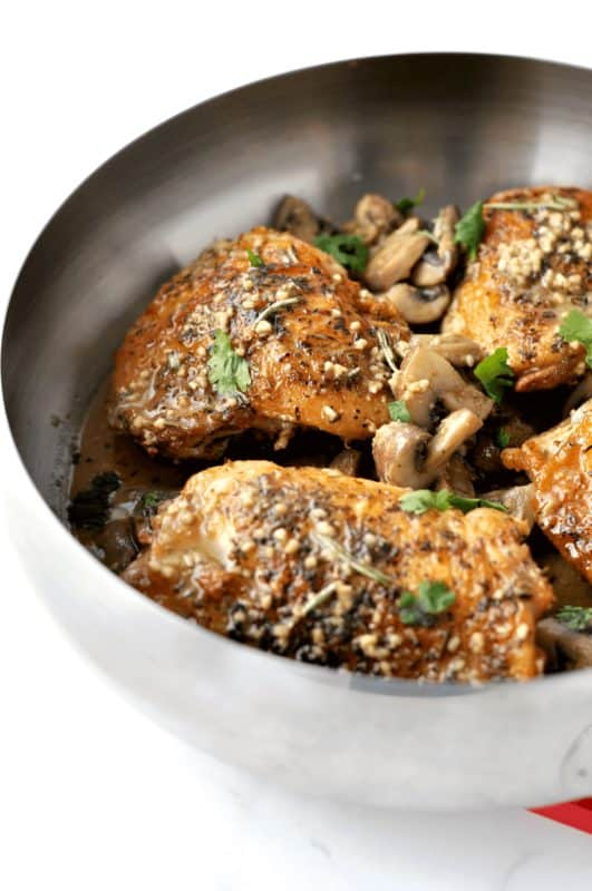 herbed chicken and mushrooms low carb recipes