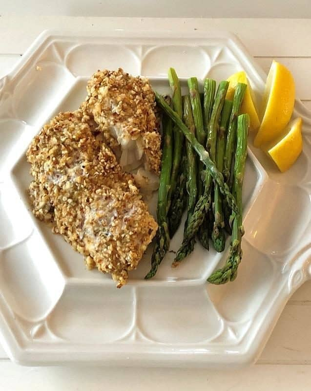 low carb recipes almond crusted cod