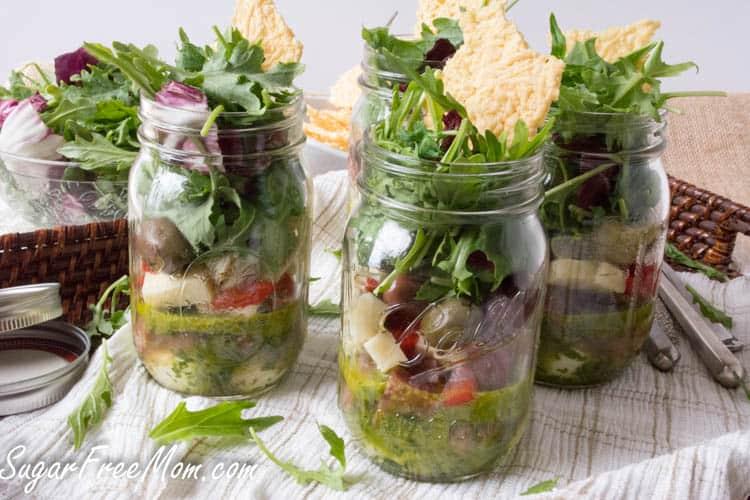 low carb recipes antipasto kale salad