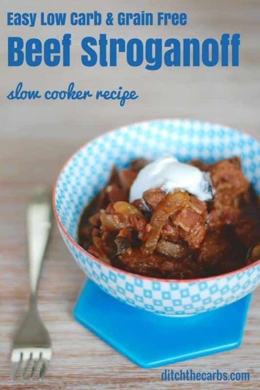low carb recipes beef stroganoff