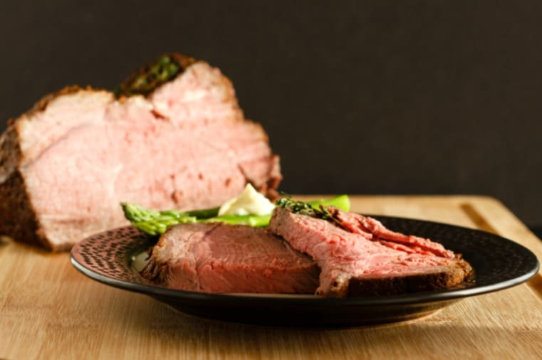baked sirloin roast with herb rub low carb recipes