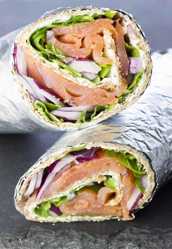 low carb recipes smoked salmon and cream cheese wraps
