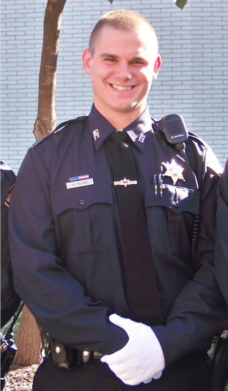 Kelan Kline in his Jail Deputy Uniform