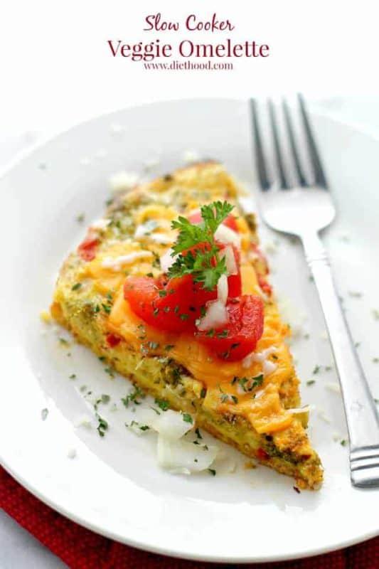 veggie omelette breakfast crockpot recipe