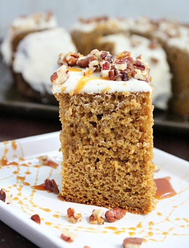 pumpkin spice cake slow cooker dessert