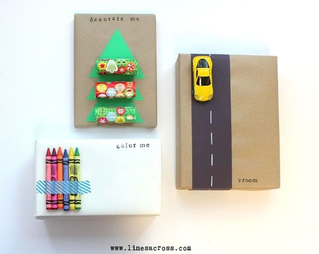 interactive gift wrapping idea for kids