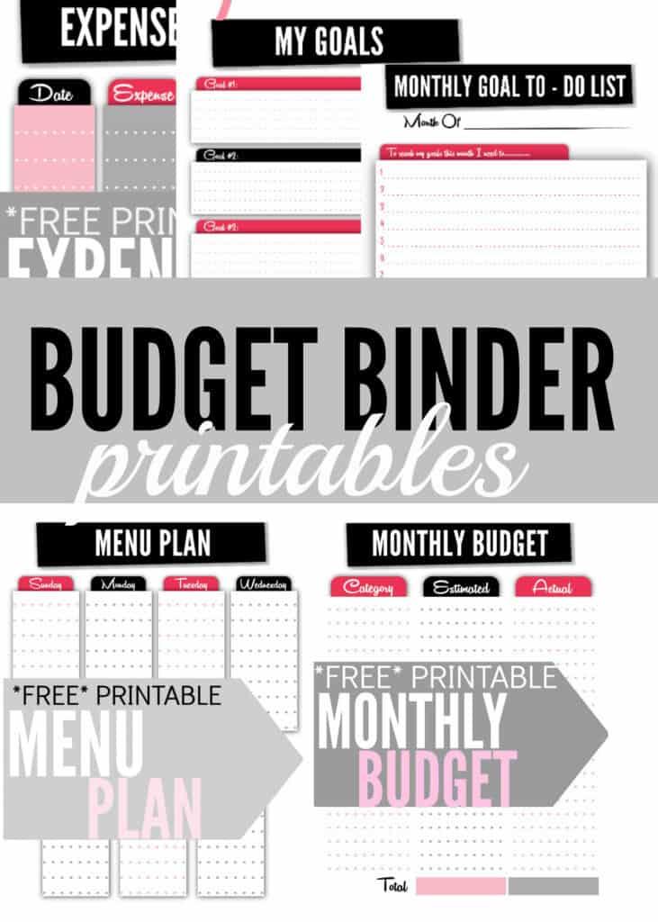 2. budget binder printables