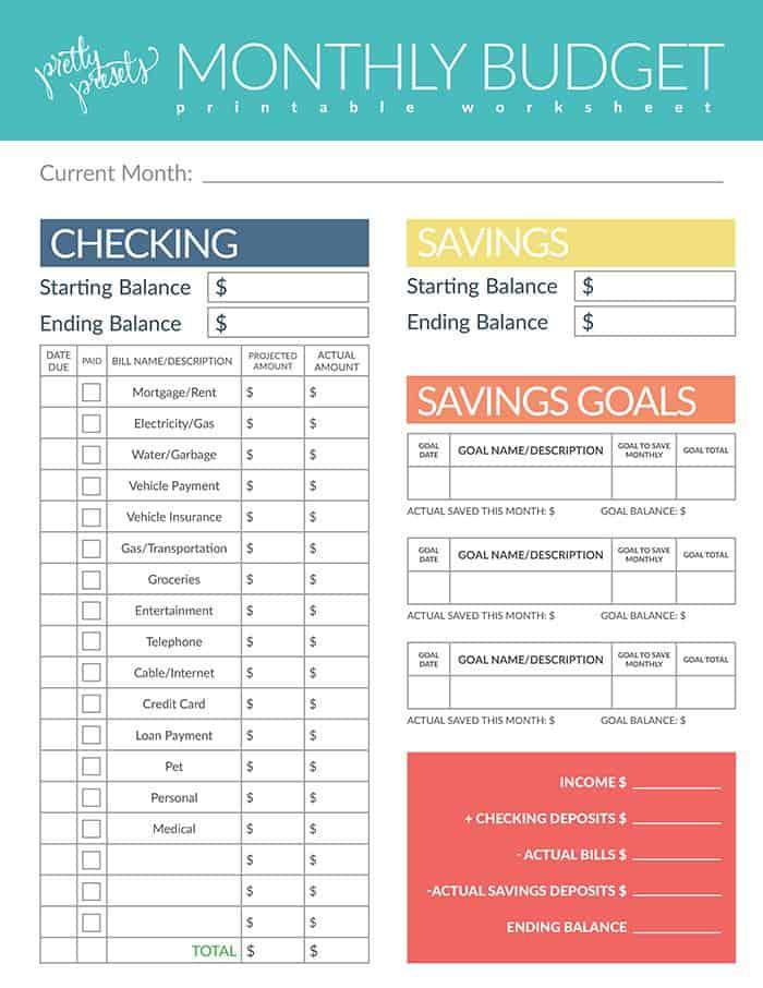 Bugeting Tips plus Free Buget Worksheet