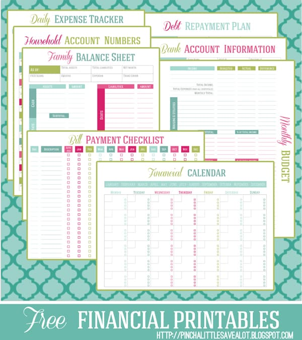 25 free budget printables that 39 ll help you manage your money fast the savvy couple. Black Bedroom Furniture Sets. Home Design Ideas