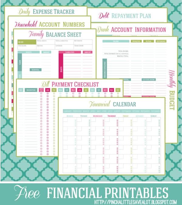 financial printables