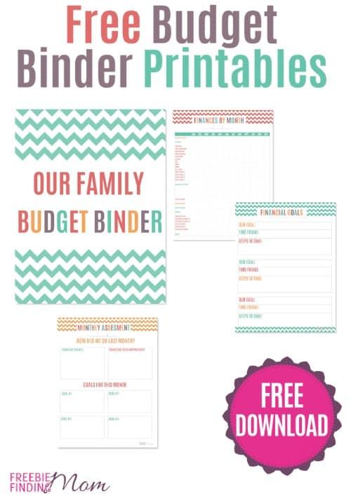 free budget binder printables pin
