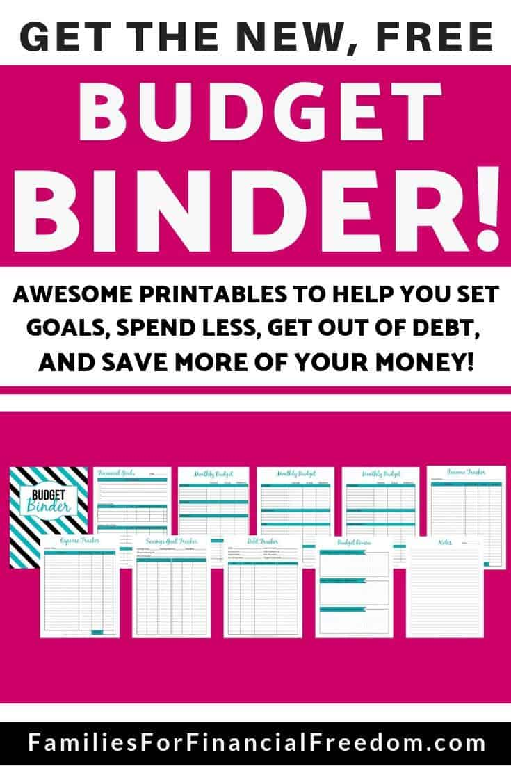 get the new free budget binder help you spend less save more pink 1