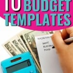 These 10 budget printables are THE BEST! I'm so glad I found these AMAZING monthly budget templates! Now I have great ways to keep my finances organized and under control like Dave Ramsey! These are going to make doing monthly finances so much easier. Pin this for later! #budget #money #DaveRamsey #familybudget #printables #personalbudget #mint #personalcaptial #YNAB #budgetprintable #budgetteamplate
