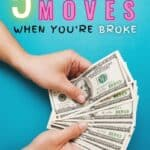 Are you sick of being stressed about money and living paycheck to paycheck? This article has 5 simple money moves that will change your life and help you get your finances in order. You have to read this! #PersonalFinance #MoneyMoves #Budgeting #PayingOffDebt #DaveRamsey #SaveMoney