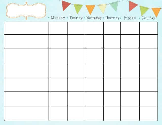 simple printable chore chart template