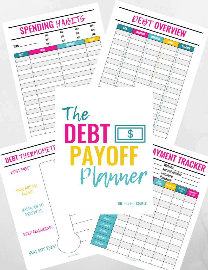 I am SO excited I found this debt payoff planner! I have been looking everywhere for a debt planner that would work for me. Not only is it beautiful, useful, and printable but it comes in digital form too! So excited to stop living paycheck to paycheck and start crushing our debt once and for all. #Printable #Debt #Binder #Planner #Finance #Money #Debtbinder #BudgetPlanner #Debtpayoff