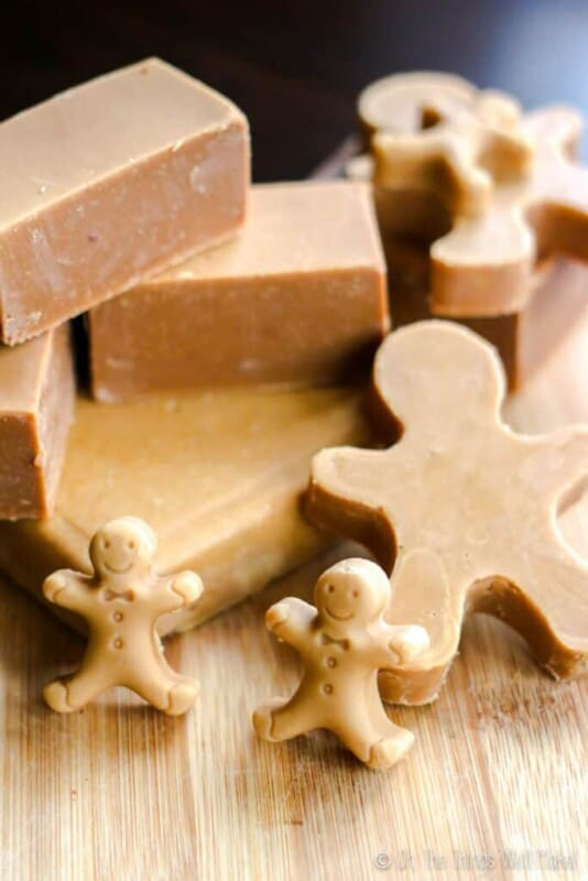 cheap christmas gifts / homemade soap in the shape of gingerbread men
