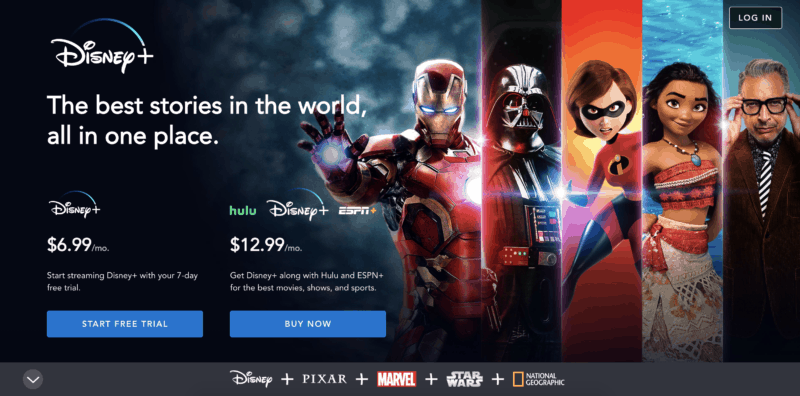 disney plus sign up page screenshot alternatives to cable TV