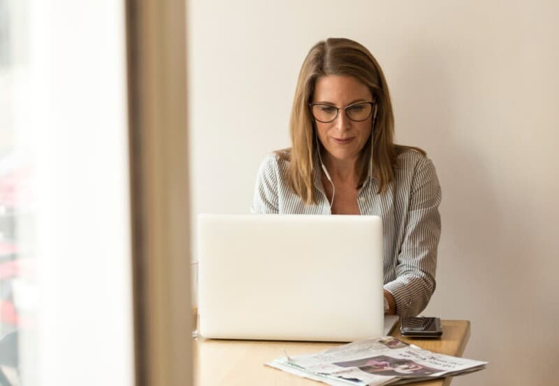 woman on a laptop virtual assistant small business