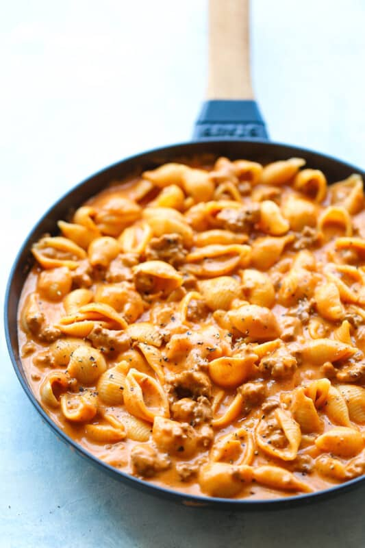 creamy beef and shells ground beef recipe
